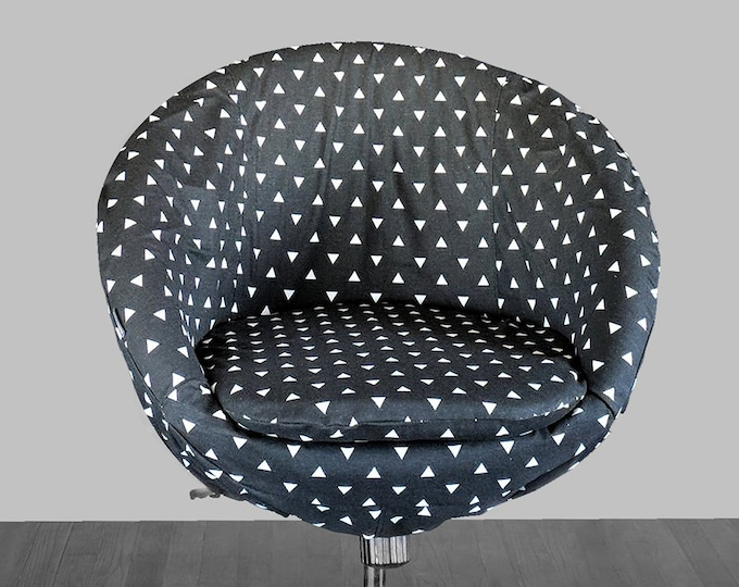 Black Triangle Print IKEA SKRUVSTA Chair Slip Cover