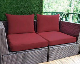 IKEA OUTDOOR Slip Cover, Ikea Cushion Covers, Custom Ikea Decor, Bespoke Arholma Covers, Sunbrella Burgundy Red