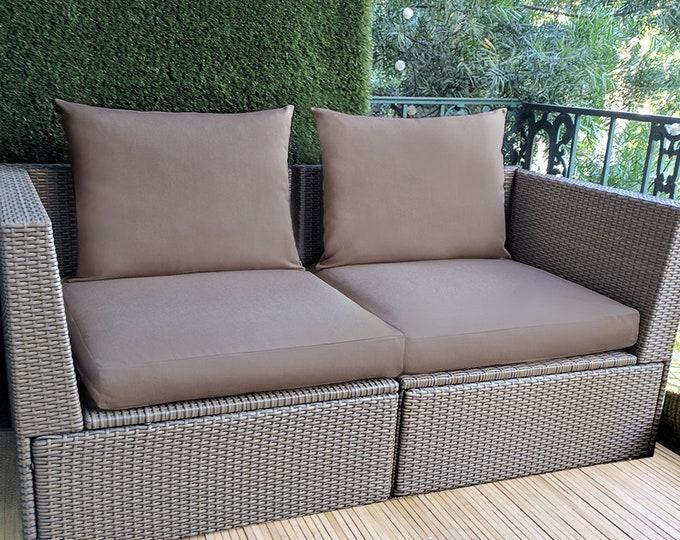 Sunbrella Solid Cocoa Brown IKEA OUTDOOR Slip Cover, Ikea Cushion Covers, Custom Ikea Decor, Bespoke Arholma Covers