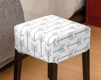 Tribal Arrows Gray Cover for IKEA Nils Stool