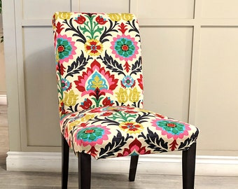IKEA Dining Chair Cover, Colorful Mexican Flower for Henriksdal