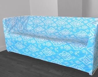 Sky Blue Ikat IKEA KNOPPARP Slip Cover