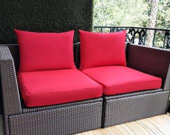 IKEA OUTDOOR Slip Cover, Ikea Cushion Covers, Custom Ikea Decor, Bespoke Arholma Covers, Sunbrella Red