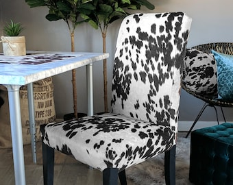 IKEA Dining Chair Cover, Cow Print, Cow Hide HENRIKSDAL Cover