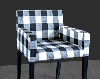 Patterned Buffalo Check Plaid IKEA NILS Chair Slip Cover, Custom Chair Prints