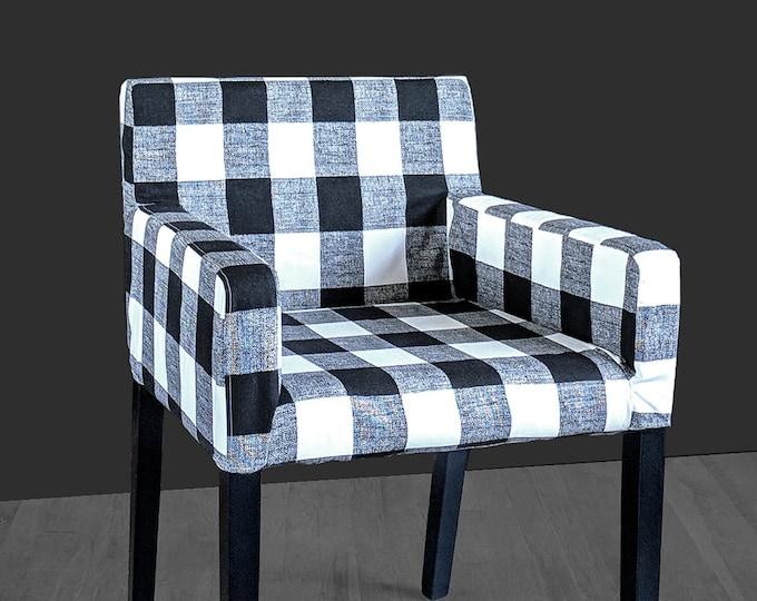 Patterned Buffalo Check Plaid IKEA NILS Chair Slip Cover, Custom Chair Prints
