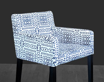 Tribal Pattern, IKEA NILS Chair Slip Cover