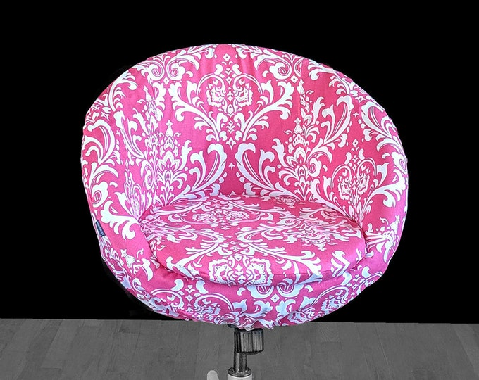 Hot Pink Indian Floral Style IKEA SKRUVSTA Chair Slip Cover