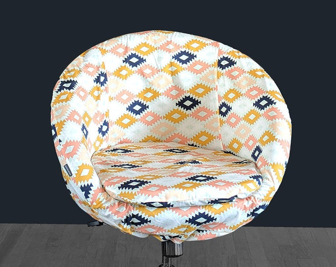 Blush Pink Gold Tribal Pattern IKEA SKRUVSTA Chair Slip Cover