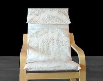 Gray Ikea KIDS POÄNG Cushion Slip Cover