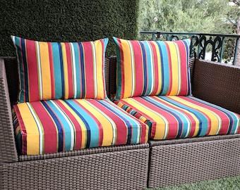 Multicolor Stripe IKEA OUTDOOR Slip Cover, Ikea Cushion Covers, Custom Ikea Decor, Bespoke Arholma Covers