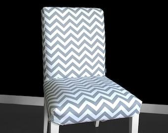 Grey Zig Zag IKEA HENRIKSDAL Dining Chair Cover, Custom Chevron Henriksdal Cover