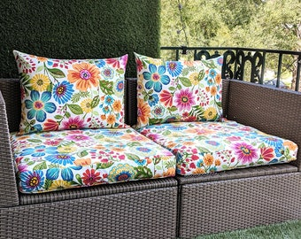 IKEA OUTDOOR Slip Cover, Ikea Cushion Covers, Ikea Decor, Bespoke Arholma Covers, Pink Floral