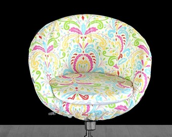 Colorful Floral Custom IKEA SKRUVSTA Chair Slip Cover