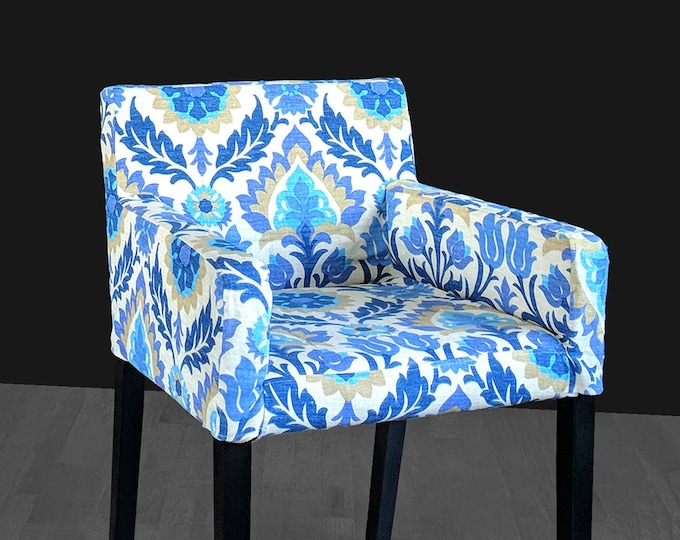 Custom Furniture Prints, IKEA NILS Chair Slip Cover - Santa Maria Azure Blue