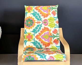 Floral Ikea Poang Chair Cover, Ikea Kids Poang Seat Cover