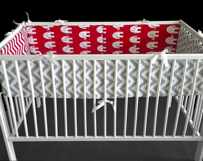 Elephant Baby Crib Cot Bumper