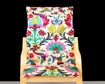 Flower Animal Patchwork Kids Ikea Poang Chair Cover