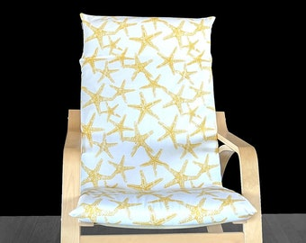 Yellow Starfish IKEA POÄNG Cushion Slip Cover