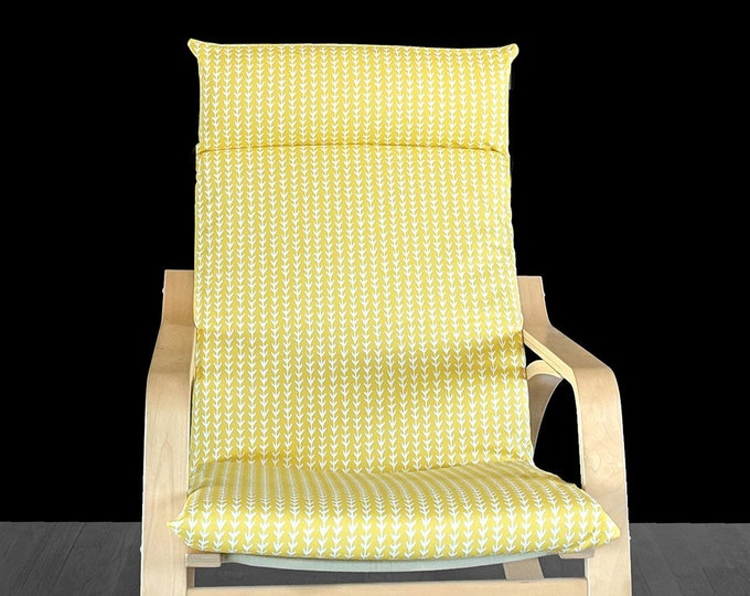 Yellow Vine Bold Pattern Ikea Poang Chair Cover