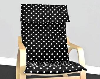 Black Polka Dot Ikea Poang Slipcover