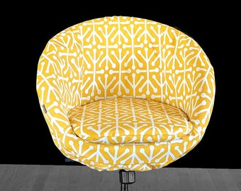 Geometric Yellow IKEA SKRUVSTA Chair Slip Cover
