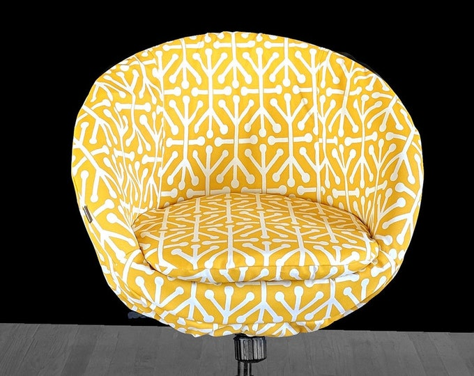 Geometric Yellow IKEA SKRUVSTA Chair Slip Cover