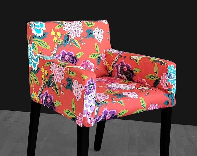 Custom Furniture Prints, IKEA NILS Chair Slip Cover - Candid Moment Cinnabar Red