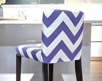SALE Purple Chevron IKEA HENRIKSDAL Bar Stool Cover, Zig Zag Henrkisdal Cover