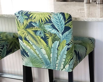 IKEA Slipcovers, Tropical Leaves HENRIKSDAL Stool Cover, Fern Leaf Henriksdal Slipcover
