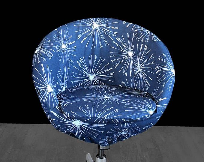 Fireworks Navy Blue IKEA SKRUVSTA Chair Slip Cover