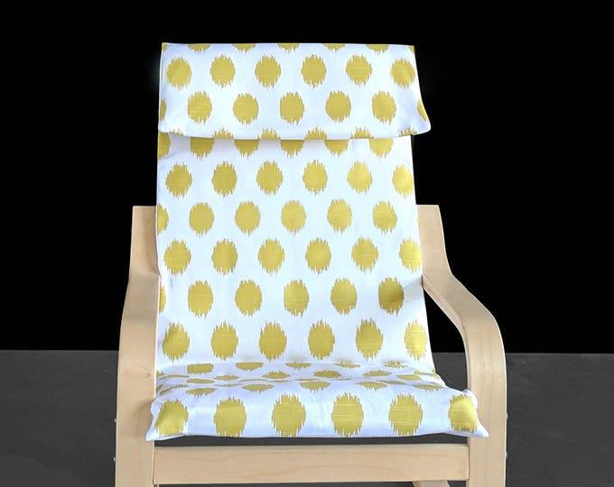 KIDS POÄNG Polka Dot Cushion Seat Cover, Big Polka Dot Lime Green