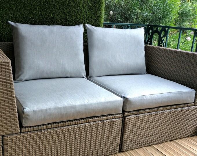 IKEA OUTDOOR Slip Cover, Ikea Cushion Covers, Custom Ikea Decor, Bespoke Arholma Covers, Sunbrella Granite Grey