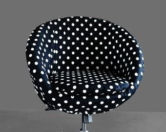 Black Polka Dot IKEA SKRUVSTA Chair Slip Cover