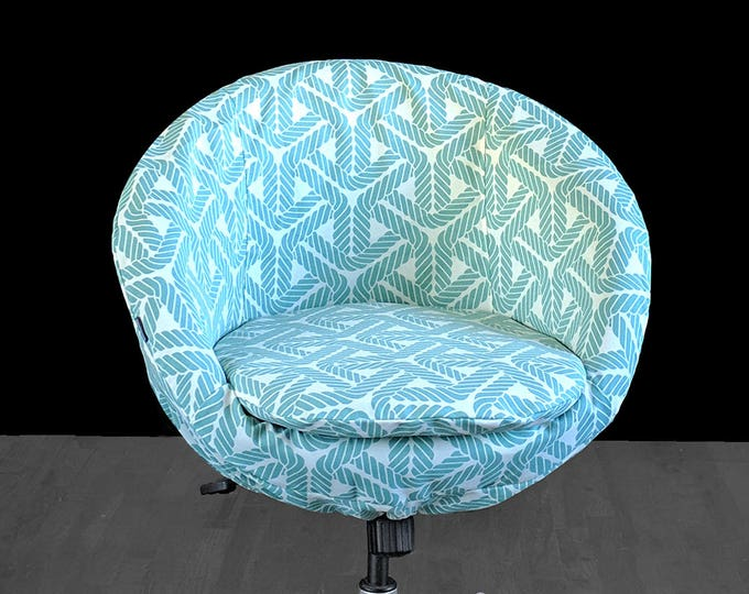 Blue Nautical Rope Print IKEA SKRUVSTA Chair Cover