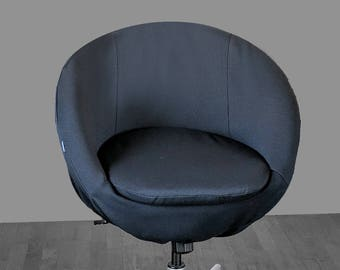 Solid Black IKEA SKRUVSTA Chair Slip Cover