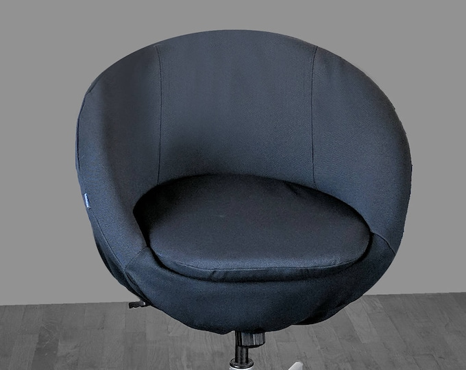 Solid Black IKEA SKRUVSTA Chair Slip Cover