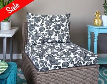 IKEA OUTDOOR Slip Cover, Ikea Cushion Covers, Custom Ikea Decor, Bespoke Arholma Covers, Black Floral