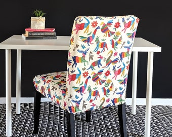 Colorful Otomi Latin Animal Print IKEA HENRIKSDAL Dining Chair Cover
