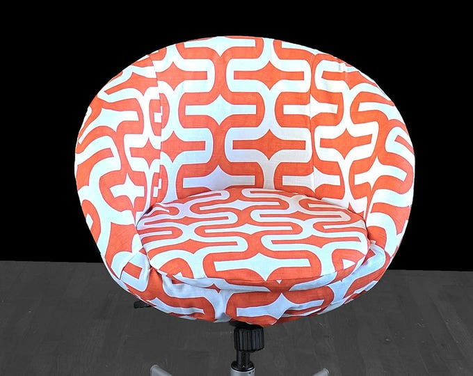 IKEA Retro Orange SKRUVSTA Chair Slip Cover