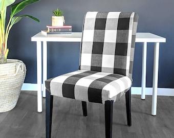 Super Ikea Dining Chair Cover Farmhouse Plaid Buffalo Check Black Spiritservingveterans Wood Chair Design Ideas Spiritservingveteransorg