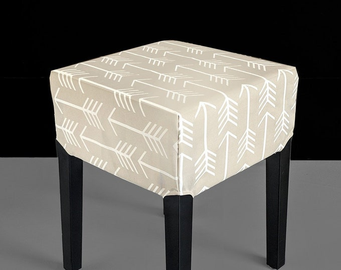 Beige Arrows Cover for IKEA Nils Stool