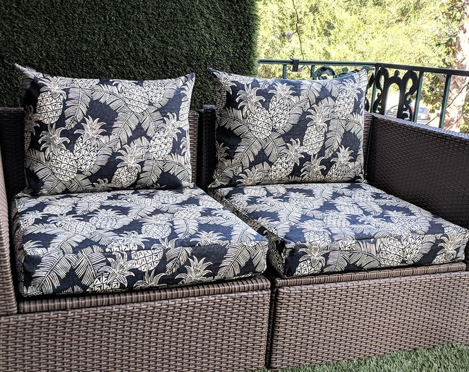 Pineapple Black Batik Ikea Froson Kungso Outdoor Furniture Covers - *Fits Ikea ONLY*