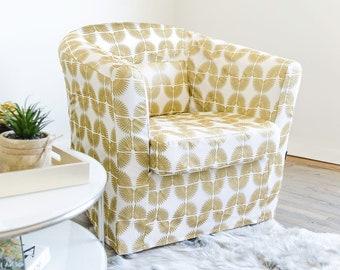 White Gold Custom IKEA TULLSTA Chair Slip Cover