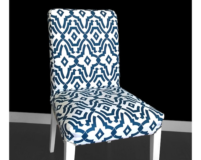 Blue Pattern IKEA HENRIKSDAL Dining Chair Cover,