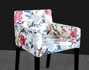 Floral Custom Furniture Prints, IKEA NILS Chair Slip Cover