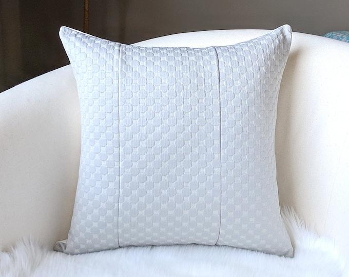 Gray Woven Dot Pillow Cover