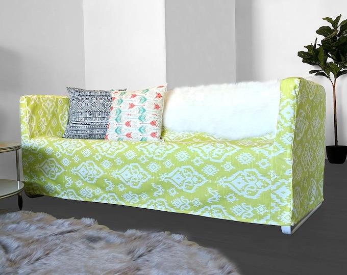 Lime Green Ikat Print IKEA KNOPPARP Slip Cover