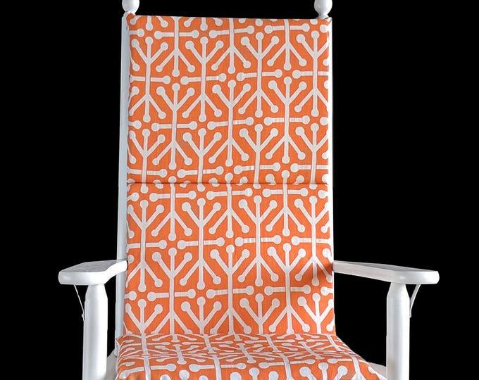 Orange Natural Aruba Rocking Chair Cushion Cover