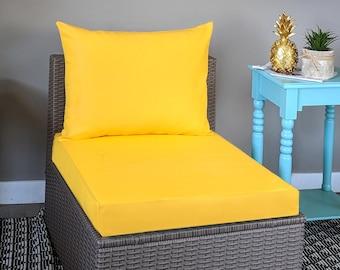 Sunbrella Solid Yellow IKEA OUTDOOR Slip Cover, Ikea Cushion Covers, Custom Ikea Decor, Bespoke Arholma Covers